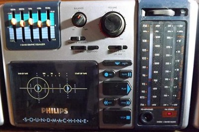 Combiné Radio - Cassette SoundMachine Philips PHILIPS D 8354/00 (1986) Collector